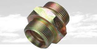 卡套式锥螺纹对接直通管接头JB/ZQ4406-86