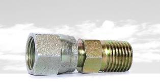 扩口式锥螺纹直通管接头JB/ZQ4408-86